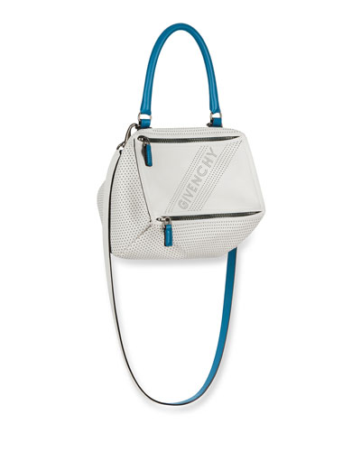 Pandora Small Perforated Leather Crossbody Bag