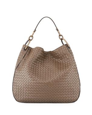 227b12ebcbabb6 Bottega Veneta Intrecciato Leather Shoulder Bag
