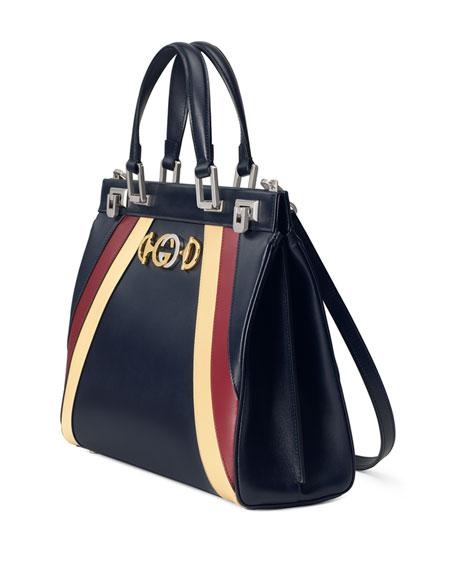 Gucci Medium Zumi Stripe Top Handle Bag