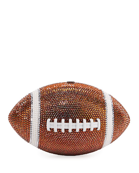 Judith Leiber Couture Crystal Game Ball Clutch Bag, Orange/White