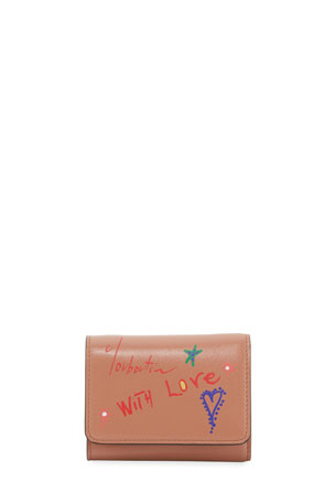 Christian Louboutin With Love Script Leather Wallet