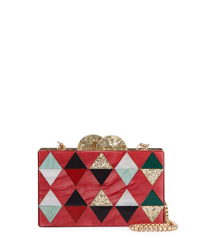 Girl's Harlequin Acrylic Box Clutch Bag