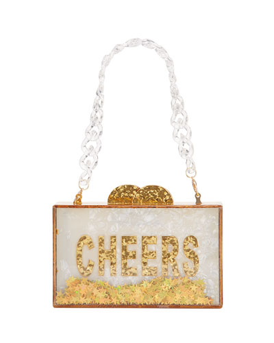 Girl's Cheers Acrylic Box Clutch Bag
