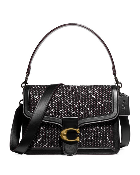 Coach 1941 Tweed and Leather Shoulder Bag