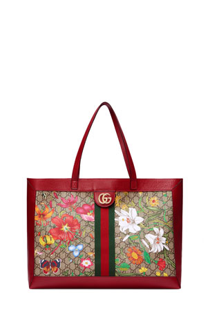 Gucci Ophidia Medium GG Flora Tote Bag