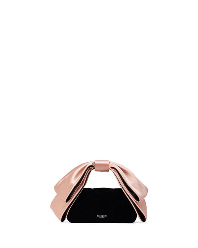bowie mini velvet top-handle clutch bag