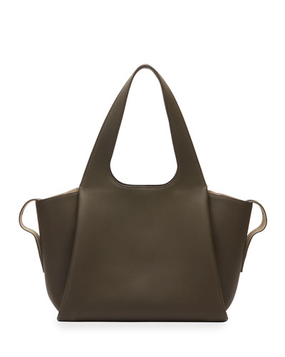 Large TR1 Bag in Matte Grain Leather