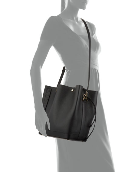 Image 4 of 4: MCM Milano Medium Goat Drawstring Shoulder Bag