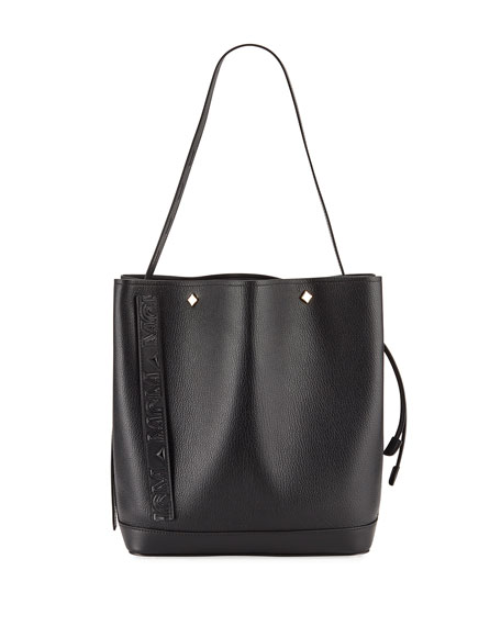 Image 1 of 4: MCM Milano Medium Goat Drawstring Shoulder Bag