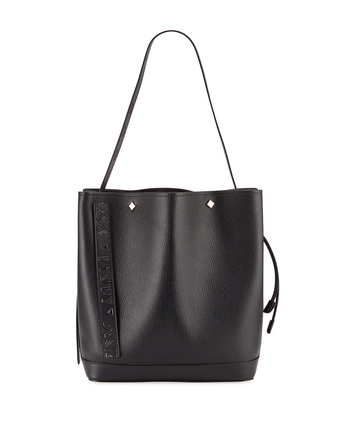 MCM Milano Medium Goat Drawstring Shoulder Bag