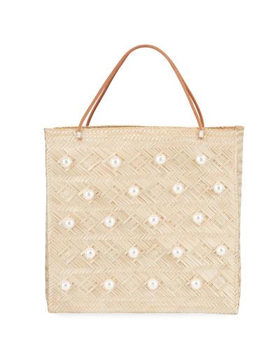 Tropics Embellished Tote Bag