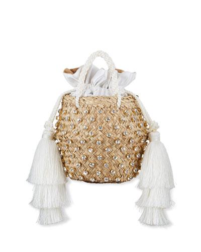 Carol Small Crystal Tassels Bag