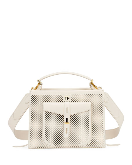 Tom Ford Accessories T Twist Perforated Top Handle Bag