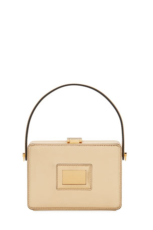 TOM FORD Palmellato Leather Top-Handle Box Bag - Golden Hardware