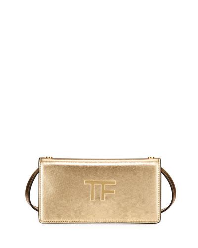 Palmellato Mini Metallic Leather Clutch Bag