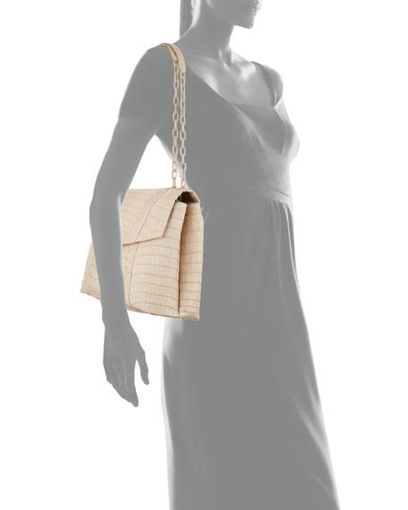 Nancy Gonzalez Medium Double Chain Soft Flap Bag