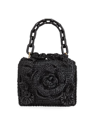 Mini Tro Crocheted Raffia Tote Bag