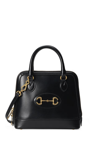 Gucci 1955 Horsebit Small Leather Top-Handle Bag
