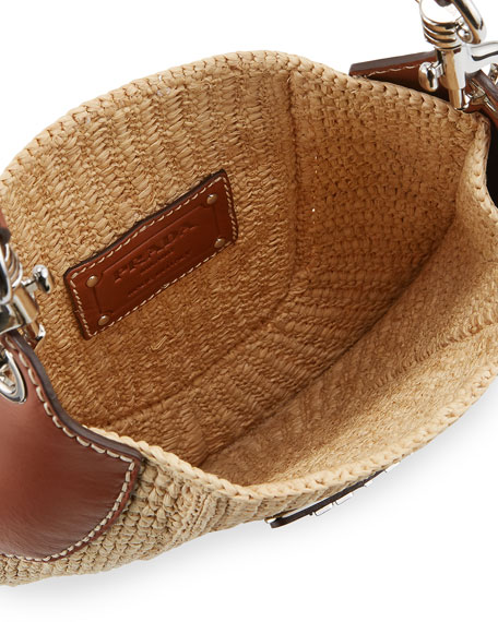 Image 3 of 5: Small Raffia Hobo Bag