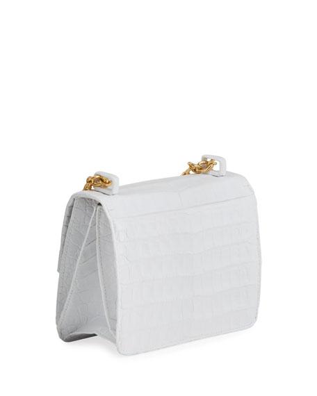 Nancy Gonzalez Small Square Crocodile Double-Chain Shoulder Bag