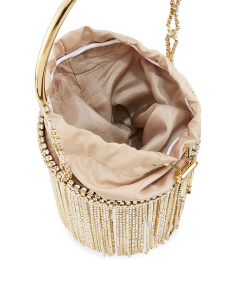 Image 2 of 4: Rosantica Kingham Crystal Fringe Clutch Bag