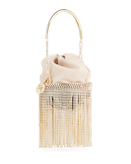 Image 3 of 4: Rosantica Kingham Crystal Fringe Clutch Bag