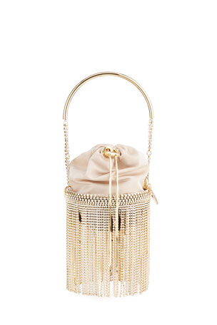 Rosantica Kingham Crystal Fringe Clutch Bag