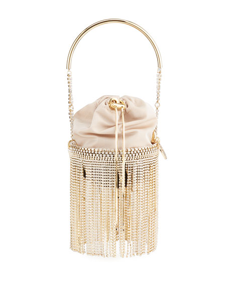 Image 1 of 4: Rosantica Kingham Crystal Fringe Clutch Bag