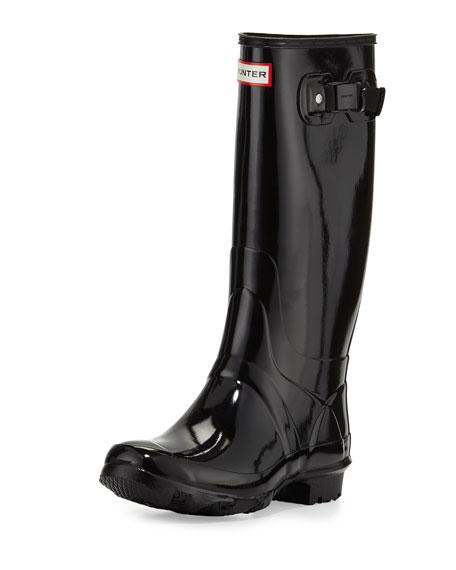 Huntress Gloss Welly, Black