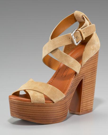Alannah Suede Platform Sandal