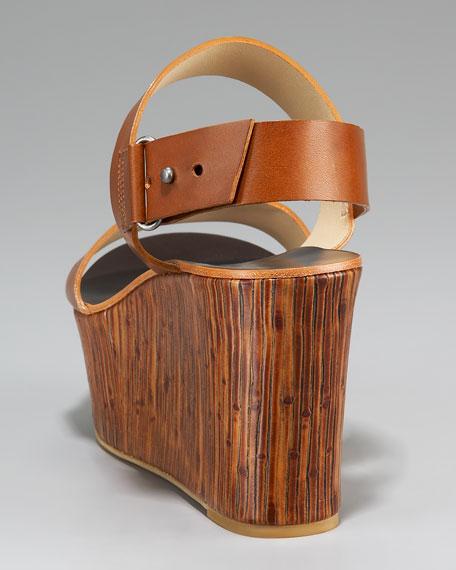 Bamboo Wedge Sandal