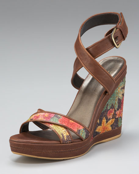 Ankle-Wrap Wedge Sandal
