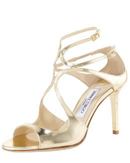 Jimmy Choo Ivette Mirrored Crisscross Sandal