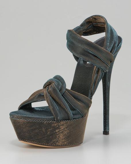 Knotted Platform Sandal