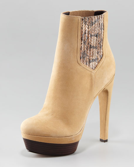 Audrey Snake-Gore Side Boot