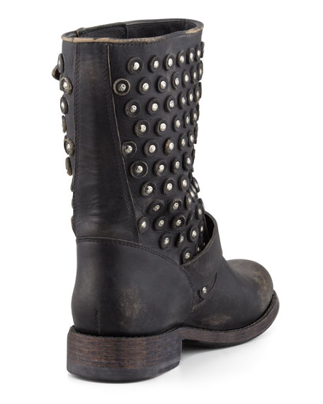 Jenna Disc Short Motorcycle Boot