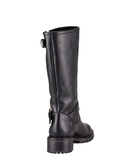 f403c7a05a8 Rabbit-Lined Motorcycle Boot