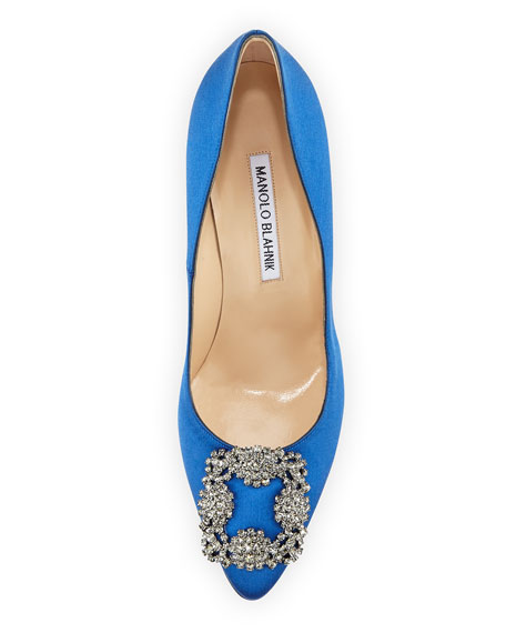 Hangisi 105mm Satin Pump, Cobalt Blue