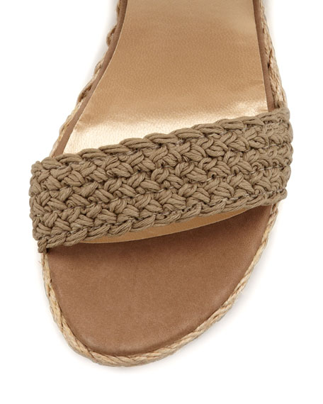 Alex Crochet Wedge Sandal