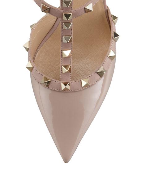Valentino Garavani Rockstud Patent Leather Sandal