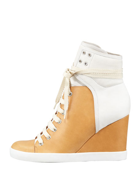 Colorblock Wedge Sneaker