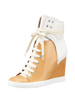 See by Chloe Colorblock Wedge Sneaker