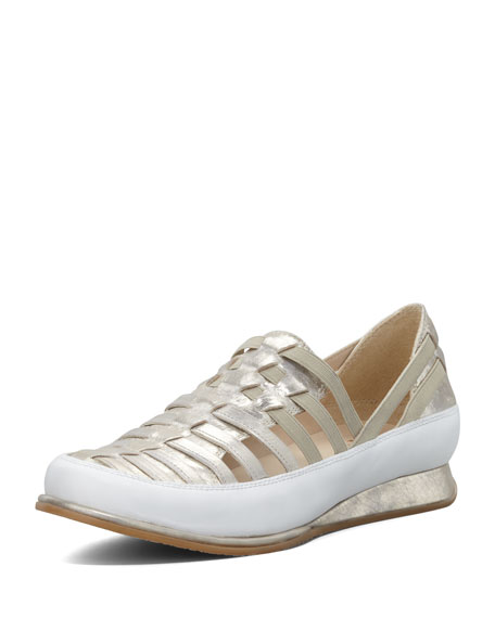 Stuart Weitzman Move In Strappy Elastic Sneaker, Mercury