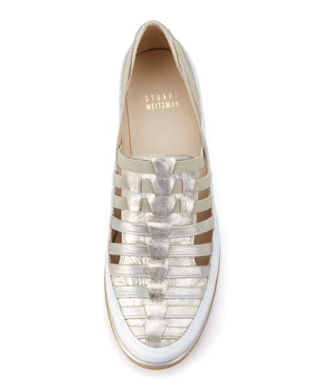 Move In Strappy Elastic Sneaker, Mercury