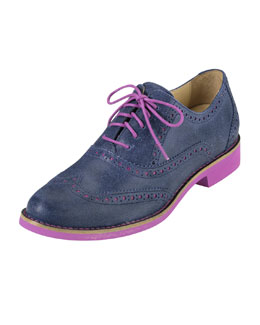 Cole Haan Alisa Two-Tone Oxford, Blue/Pink