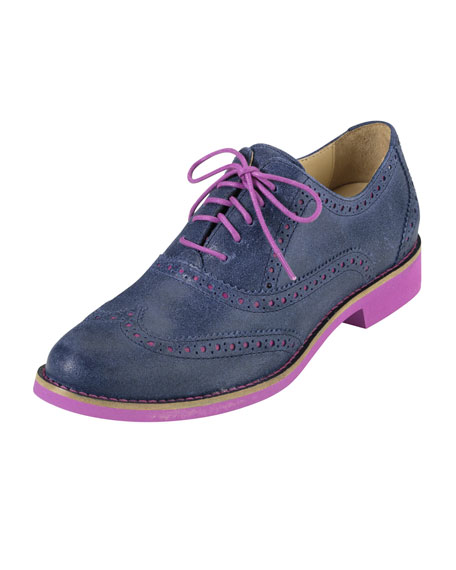 Alisa Two-Tone Oxford, Blue/Pink