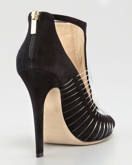 Taste Suede & Wire T-Strap Sandal, Black