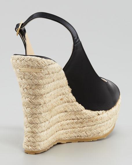 Polar Patent Slingback Espadrille, Black