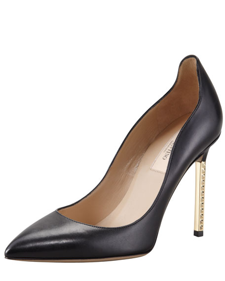 Extreme Heel Nappa Pump, Black