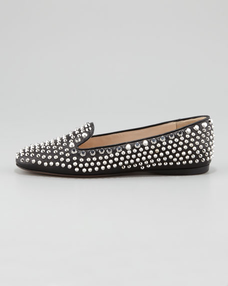 Studded Smoking Slipper